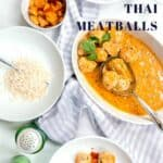Thai Meatballs on a cookie sheet before baking