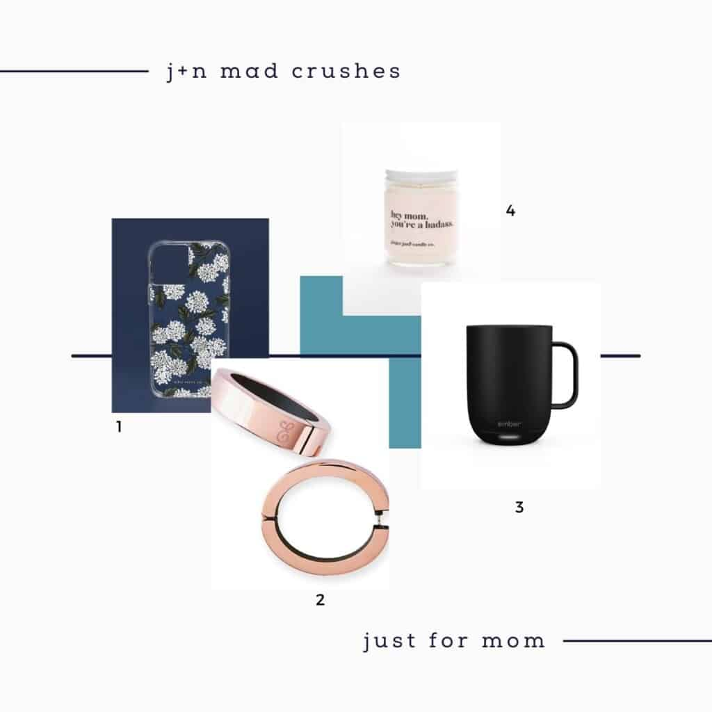 four tech mothers day gift ideas on a white background