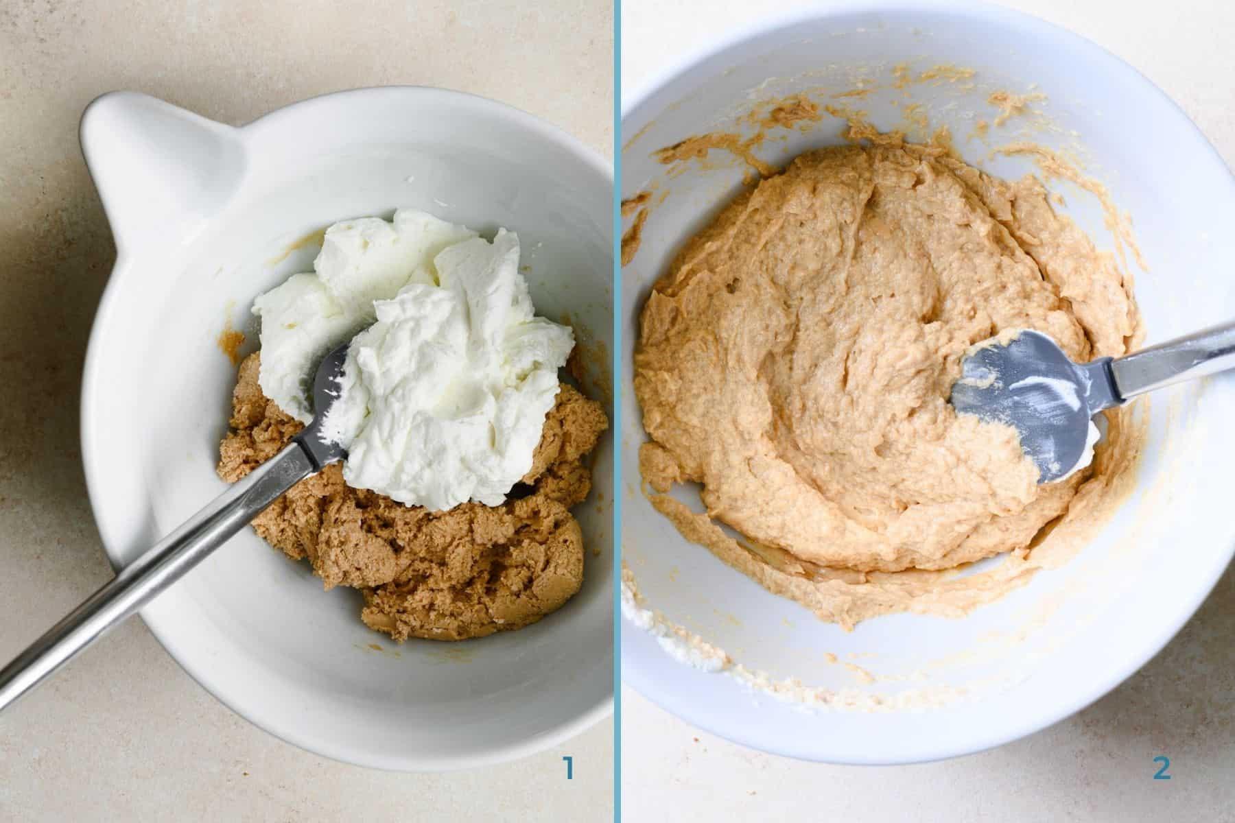 process shots to make peanut butter mousse