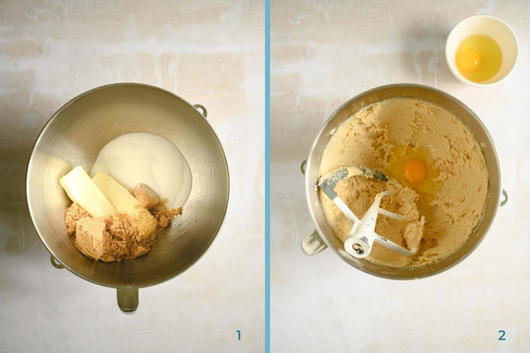 two steps to making homemade cookie dough